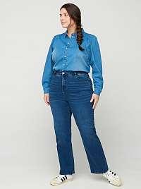 Zizzi modré straight fit džínsy