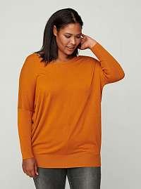 Zizzi oranžový ľahký sveter
