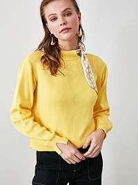 Žltá mikina Trendyol