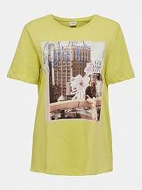 Žlté tričko s potlačou Jacqueline de Yong