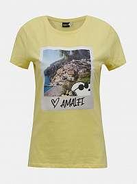 Žlté tričko s potlačou ONLY Peanuts
