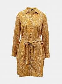 Žlté vzorované košeľové šaty VERO MODA Vibe