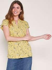 Žlté vzorované tričko Brakeburn