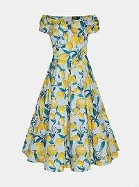Žlto-modré vzorované MIDIS Dolly & Dotty