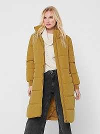 Žltý zimný prešívaný kabát Jacqueline de Yong