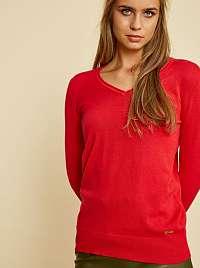 ZOOT Baseline červené basic dámsky sveter Irma