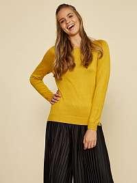 ZOOT Baseline žlté basic dámsky sveter Ema