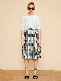 ZOOT biele vzorovaná sukňa Sylvie
