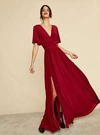 ZOOT bordové maxi šaty