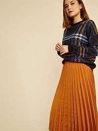 ZOOT hnedé plisovaná midi sukňa Kate