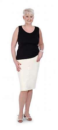 ALEXANDRA - strečová sukňa cca 68 cm