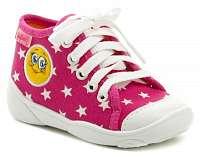 Befado 218P055 ružové detské plátené tenisky