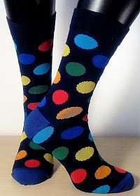 FAREBNÉ Bodky - ponožky