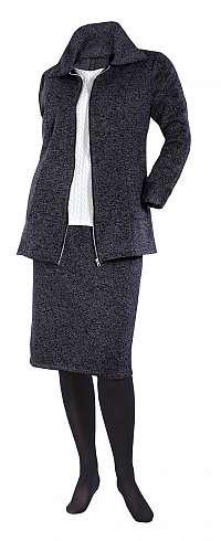 Fleecový kabátik s golierom Kapleta