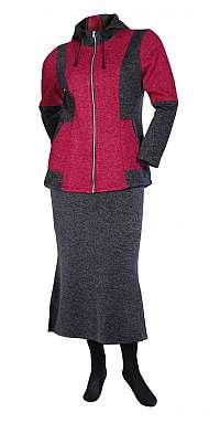 Fleecový kabátik s kapucňou Mipleta