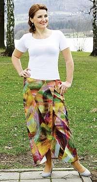 KAMILA - dlhá zavinovací sukňa