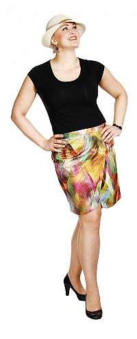 KAMILA - krátka zavinovací sukňa