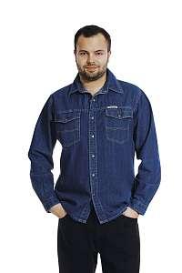 KURT - rifľová košeľa dlhý rukáv 153
