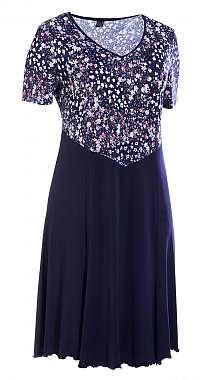 LEONA šaty pre plnoštíhle 110 - 115 cm