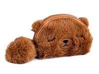 MACKO - detská kožušinová peňaženka - puzdro