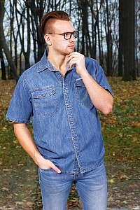 MATY - pánska rifľová košeľa 179