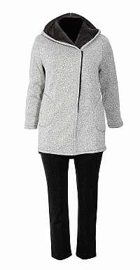 melírovaný kabátik s kapucňou