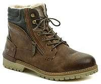 Mustang42-601-360 hnedé pánske zimný topánky
