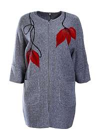 NINA - svetrovy kabátik s aplikáciou