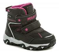 Peddy P3-631-35-10 čierno ružové detské zimný topánky