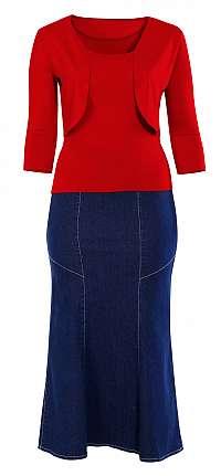 Riflová dielová sukňa DELSURI