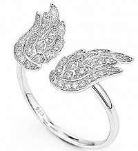 Amen Originálne strieborný prsteň so zirkónmi Angels RW 59 mm