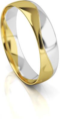 Art Diamond Pánsky bicolor snubný prsteň zo zlata AUG276 62 mm