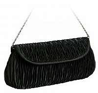 Barolo Elegantná čierna listová kabelka 1621