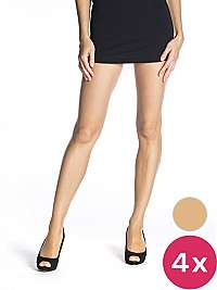Bellinda Dámska sada pančuchových nohavíc 4 Pack Almond Fly 15 Panty hose BE250000 -116 M