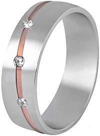 Beneto Dámsky bicolor prsteň z ocele SPD07 mm