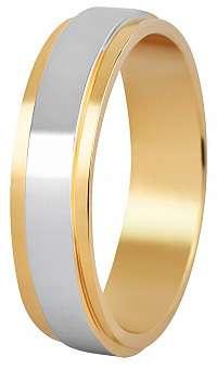 Beneto Dámsky bicolor snubný prsteň z ocele SPD05 60 mm