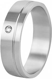 Beneto Dámsky snubný prsteň z ocele SPD06 59 mm
