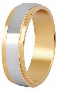 Beneto Pánsky bicolor snubný prsteň z ocele SPP05 64 mm