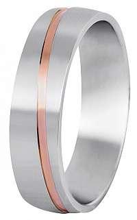 Beneto Pánsky bicolor snubný prsteň z ocele SPP07 71 mm