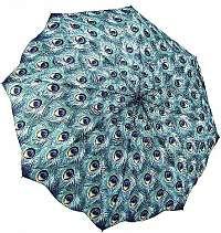 Blooming Brollies Dámsky auto matický skladací dáždnik Peacock Themed Folding Style Umbrella GMFPEAN