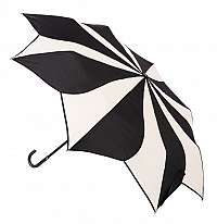 Blooming Brollies Dámsky skladací dáždnik Black and Cream Swirl EDFSWBC