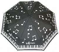 Blooming Brollies Dámsky skladací dáždnik Piano Notes Folding Umbrella CMNF