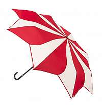Blooming Brollies Dámsky skladací dáždnik Red and Cream Swirl EDFSWRC