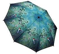 Blooming Brollies Dámsky skladací plne auto matický dáždnik Humming Birds GBFHB