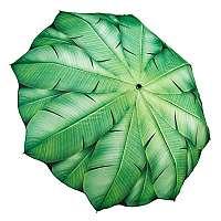 Blooming Brollies Dámsky skladací plne automatický dáždnik Banana Leaf GFFBL