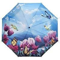 Blooming Brollies Dámsky skladací plne automatický dáždnik Tulipány Sonata GFFTS