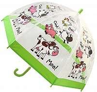 Blooming Brollies Detský priehľadný palicový dáždnik Buggz Kids Stuff Farm BUFARM
