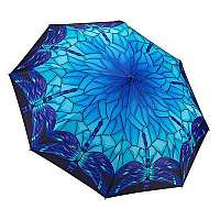 Blooming Brollies Skladací dáždnik Blue Stained Glass Themed Folding Style Uumbrella GMFSGB