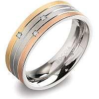 Boccia Titanium Titánový prsteň s briliantmi 0135-02 61 mm