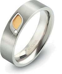 Boccia Titanium Titánový prsteň s briliantom 0146-01 56 mm
